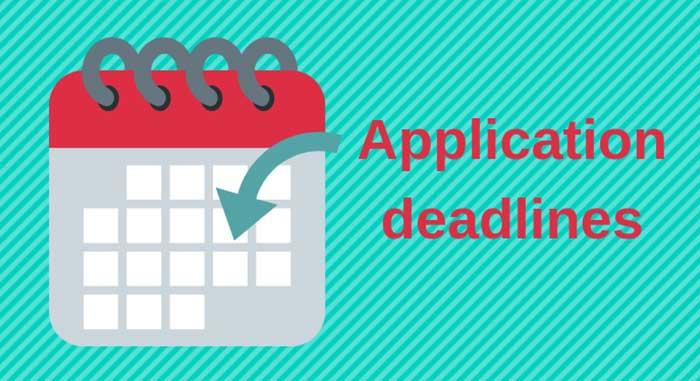College Application Deadlines Canada - Application deadlines